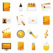 Web business & office icons — Imagen vectorial