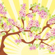 Blossom background - Stock Vector