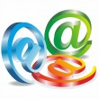 Set vector e mail icon — Stock vektor