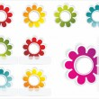 Multi-colored realistic stickers — Stock Vector #6573228