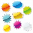 Multi-colored realistic stickers - Stock Vector