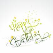 Tarjeta de cumpleaños divertida — Vector de stock