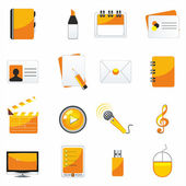 Web business & office icons — Stock Vector