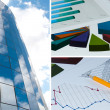 Building and financial chart, business collage — Stock Photo #5879912