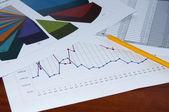 Documentos de negócios, colagem de negócios — Foto Stock