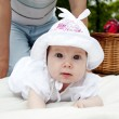 Sweet baby in park — Stock Photo