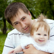 Dad and baby — Stock Photo