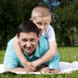 Portrait of happy father and son — Stock Photo #6069732