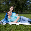 Stock Photo: Couple lays together
