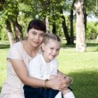 Mom and daughter in park — Stock Photo #6184398