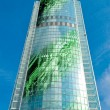 Building made of electronics — 图库照片
