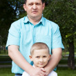 Portrait of happy father and son — Stock Photo #6220582