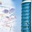 Building and blueprints, business collage — Stock Photo #6362931
