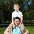 Portrait of happy father and son — Stock Photo #6363056