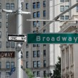 Broadway street signs - New York — Stock Photo