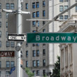Broadway street signs - New York — Foto de Stock