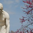 Male statue in grief — Stock Photo