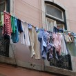 Drying clothes in southern europe — Stock Photo #5834469
