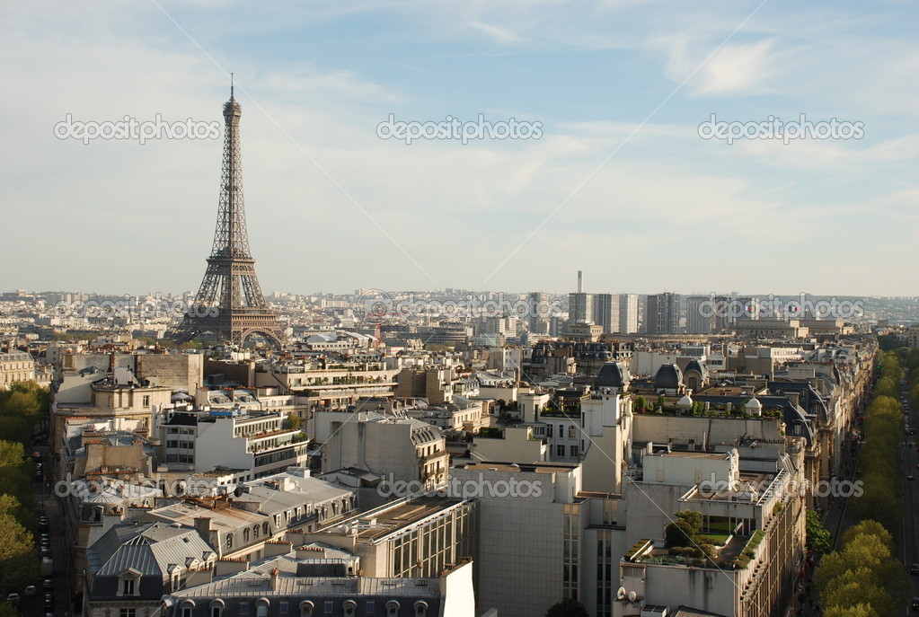 View over paris — Stock Photo #5834377