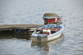 Electrical boats on lake — Stock Photo