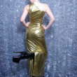 Golden Dress for Christmas - Stockfoto