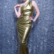 Golden Dress for Christmas — Stock Photo