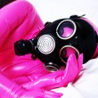 GasMask Girl - Stock Photo