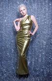 Golden Dress for Christmas — Stock Photo