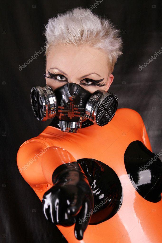 Фетиш модель Агна Деви (также дизайнер кибер фетиш одежды и фетиш фотограф).  Возраст: 26 Рост: 178 Вес...