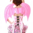 Pretty Pink Batwings Woman — Stock Photo #5907670
