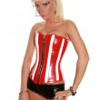 Perfect Lady In Red Corset — Stock Photo
