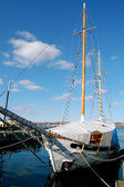 Sailboat in Halifax waterfront — Stock Photo