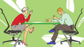 Business talking — Stock Vector
