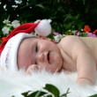 Stock Photo: Christmas baby