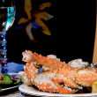 Alaskan king crab middag — Stockfoto
