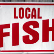 Local Fish Sign — Stock Photo