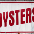 Stock Photo: Oyster Sign