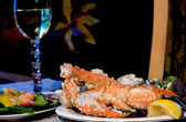 Alaskan King Crab Dinner — Stock Photo