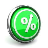 Percent mark icon — Stock Photo