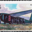 "Postal stamp. airframe ""GR-29"", 1941 — Stock Photo"