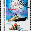 "图库照片: Postal stamp. Ice breaker ""Siberia"" , 1987"