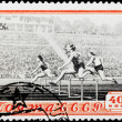 Постер, плакат: Postal stamp Hurdle race 1954