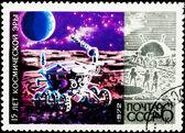 邮政邮票。moonprobe 1972. — 图库照片