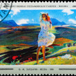 Postal stamp. Spring, 1956. — Stock Photo