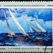 Postal stamp. Abruptly to wind, 1962. — Stock Photo #5920338