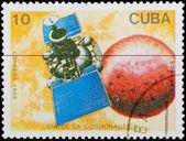 Postal stamp. Sattelite, 1988. — Stock Photo