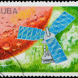 Postal stamp. Sattelite, 1988. — Stock Photo #5965784