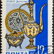 Postal stamp. Jug and vase, 1963 — Stock Photo