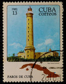 Postal stamp. Lighthouse, 1981 — Stock Photo