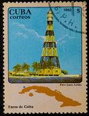 Selo postal. farol, 1982 — Fotografia Stock
